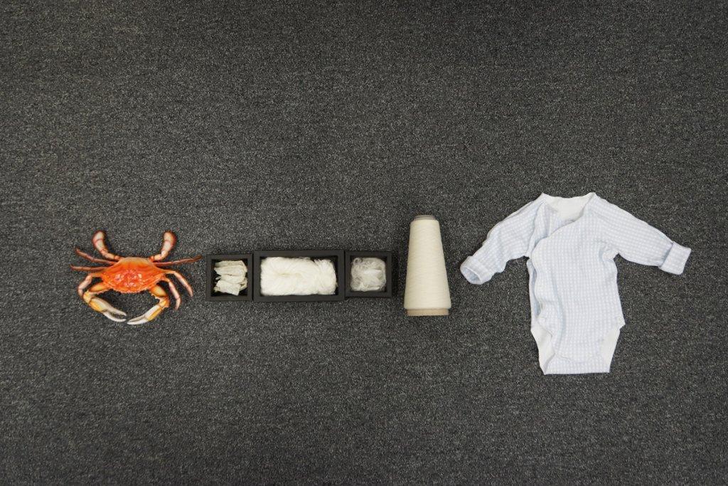 甲殼海產精煉而成的殼聚醣紡紗技術可保持殼聚醣原來抗菌性能、良好彈性、耐水洗性和舒適性等優點。